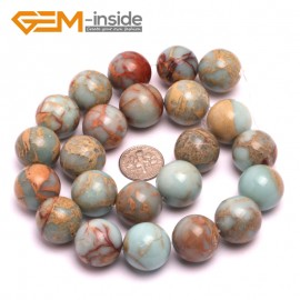"""G8085 18mm Round Gemstone Shoushan Stone DIY Jewelry Crafts Making Loose Beads Strand 15"""" Natural Stone Beads for Jewelry Making Wholesale"""