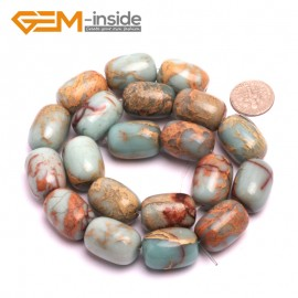 "G8091 15x20mm  Column Gemstone Shoushan Stone DIY JewelryCrafts Making Loose beads strand 15"" Natural Stone Beads for Jewelry Making Wholesale"