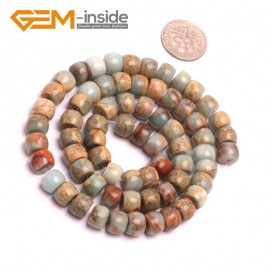 """G8092 6x8mm Rondelle Gemstone Shoushan Stone DIY Crafts Making Loose Stone Beads Strand 15"""" Natural Stone Beads for Jewelry Making Wholesale"""