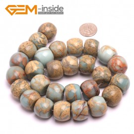 "G8097 16x18mm Rondelle Gemstone Shoushan Stone DIY Crafts Making Loose Stone Beads Strand 15"" Natural Stone Beads for Jewelry Making Wholesale"