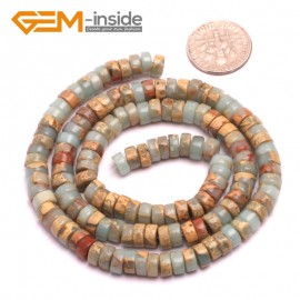 "G8098 3x6mm Rondelle Gemstone Shoushan Stone DIY Crafts Making Loose Stone Beads Strand 15"" Natural Stone Beads for Jewelry Making Wholesale"