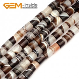 """G9296 10x14mm Column Botswana Agate Beads Jewelry Making Loose Beads Strand 15"""" Free Shipping Natural Stone Beads for Jewelry Making Wholesale"""