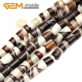"""G9297 12x16mm Column Botswana Agate Beads Jewelry Making Loose Beads Strand 15"""" Free Shipping Natural Stone Beads for Jewelry Making Wholesale"""