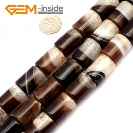 """G9298 10x20mm Column Botswana Agate Beads Jewelry Making Loose Beads Strand 15"""" Free Shipping Natural Stone Beads for Jewelry Making Wholesale"""