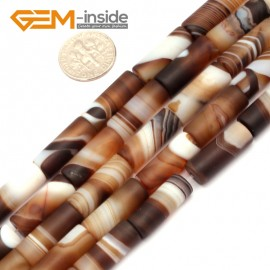 """G9300 8x20mm Frost Column Botswana Agate Beads 15"""" Jewelry Making Loose Beads Free Shipping Natural Stone Beads for Jewelry Making Wholesale"""