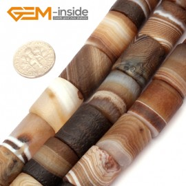 """G9303 14x18mm Frost Column Botswana Agate Beads 15"""" Jewelry Making Loose Beads Free Shipping Natural Stone Beads for Jewelry Making Wholesale"""