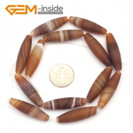 """G9309 8x30mm Olivary Frosted Botswana Agate Loose Beads Strand 15""""Free Shipping Natural Stone Beads for Jewelry Making Wholesale"""