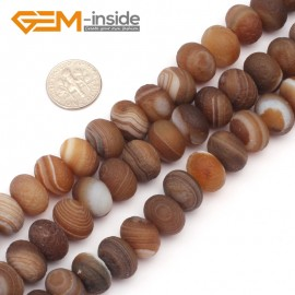 """G9311 10x14mm Rondelle/Roundel Frosted Botswana Agate Loose Beads Strand 15""""Free Shipping Natural Stone Beads for Jewelry Making Wholesale"""