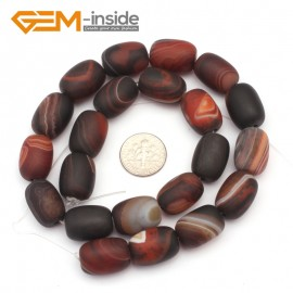 G9317 13x18mm/Frosted/Dream Lace Column Agate Beads Jewelry Making Gemstone Beads Free Shipping Natural Stone Beads for Jewelry Making Wholesale