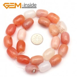 G9319 13x18mm/Smooth/Red Leaf Agate Column Agate Beads Jewelry Making Gemstone Beads Free Shipping Natural Stone Beads for Jewelry Making Wholesale