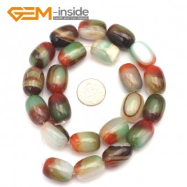 G9327 13mmx18mm/Smooth/Multi-color  Column Agate Beads Jewelry Making Gemstone Beads Free Shipping Natural Stone Beads for Jewelry Making Wholesale