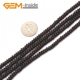 "G9328 2x4mm/Black Free Shipping Rondelle Gemstone Agate Beads Jewelry Making Loose Beads 15"" Natural Stone Beads for Jewelry Making Wholesale"