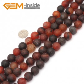 "G9343 12mm New Arrivals Frosted Round Dream Lace Agate Beads Strand 15""Free Shipping Natural Stone Beads for Jewelry Making Wholesale"