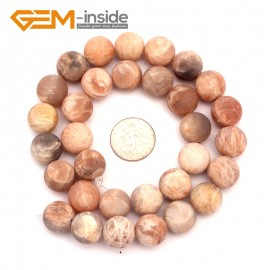 "G9409 12mm Frosted Natural Round Frost Sun Stone DIY Jewelry Making Loose Beads 15"" Free Shipping Natural Stone Beads for Jewelry Making Wholesale`"