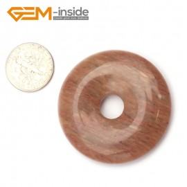 G9643 Agate(40mm)Natural Ring Lucky Buckle Beads For Earrings and Pendants 1 pcs 30 40 50mm Pick Pendants Fashion Jewelry Jewellery