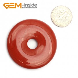 G9645 Red Jasper(40mm)  Natural Ring Lucky Buckle Beads For Earrings and Pendants 1 pcs 30 40 50mm Pick Pendants Fashion Jewelry Jewellery
