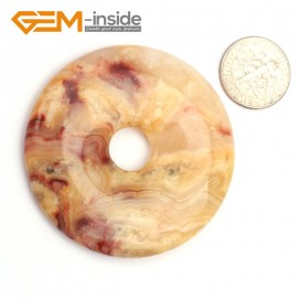 G9648 Crazy Lace Agate(50mm)  Natural Ring Lucky Buckle Beads For Earrings and Pendants 1 pcs 30 40 50mm Pick Pendants Fashion Jewelry Jewellery