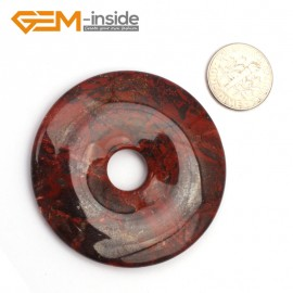 G9650 Flower Red Jasper(50mm) Natural Ring Lucky Buckle Beads For Earrings and Pendants 1 pcs 30 40 50mm Pick Pendants Fashion Jewelry Jewellery