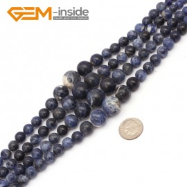 """G9707 6-14mm Sodalite Graduated Gemstone Loose Beads Strand 15"""" Natural Stone Beads for Jewelry Making Necklace Wholesale"""