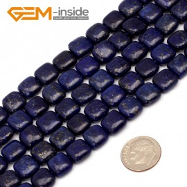 "G9712 10mm(Square) Blue Lapis Lazuli DIY Jewelry Making Gemstone Loose Beads 15"" Natural Stone Beads for Jewelry Making Wholesale"
