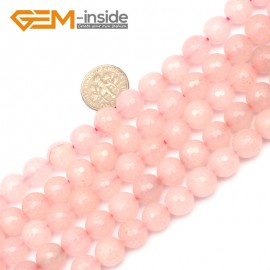 """G9729 10mm Round Faceted Rose Quartz Jewelry Making Gemstone  Loose Beads Strand 15"""" Natural Stone Beads for Jewelry Making Wholesale DIY"""