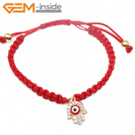 "EvilEye0013  Turkey Evil Eye Bracelet Handmade Red Macrame Adjustable Bracelet 7"" Fashion Jewelry Bracelets for Women"