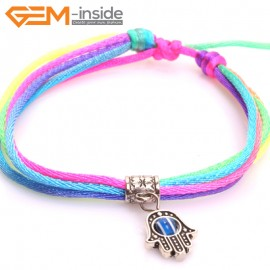 "EvilEye0009  Turkey Evil Eye Bracelet Handmade  Adjustable Bracelet 7"" Fashion Jewelry Bracelets for Women"