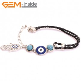 "EvilEye0010  Turkey Evil Eye Bracelet Handmade  Adjustable Bracelet 7"" Fashion Jewelry Bracelets for Women"