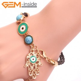 "EvilEye0011  Turkey Evil Eye Bracelet Handmade  Adjustable Bracelet 7"" Fashion Jewelry Bracelets for Women"
