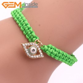 "EvilEye0017 Turkey Evil Eye Bracelet Handmade Blue Macrame Adjustable Bracelet 7"" Fashion Jewelry Bracelets for Women"