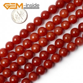 "G0004 10mm Free Shipping Round Smooth Gemstone Red Agate Beads Strand 15"" Selectable Size Natural Stone Beads for Jewelry Making Wholesale`"