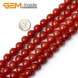 "G0005 12mm Free Shipping Round Smooth Gemstone Red Agate Beads Strand 15"" Selectable Size Natural Stone Beads for Jewelry Making Wholesale`"
