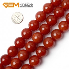 "G0007 16mm Free Shipping Round Smooth Gemstone Red Agate Beads Strand 15"" Selectable Size Natural Stone Beads for Jewelry Making Wholesale`"