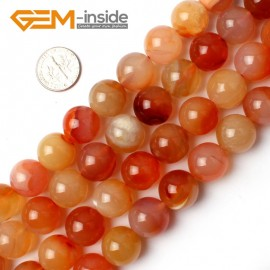 """G0017 14mm Round Gemstone Red Carnelian Jewelry Making Beads Strand 15"""" Selectable Size Natural Stone Beads for Jewelry Making Wholesale`"""