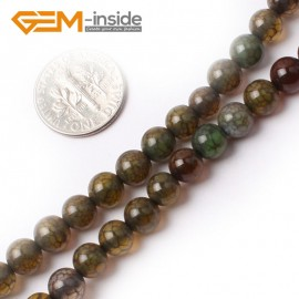 """G0083 6mm Round Gemstone Crackle Agate Beads Strand 15"""" Free Shipping Natural Stone Beads for Jewelry Making Wholesale`"""