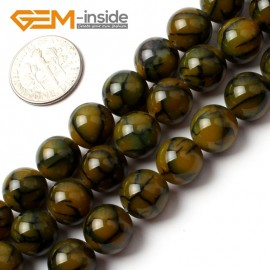 """G0085 10mm Round Gemstone Crackle Agate Beads Strand 15"""" Free Shipping Natural Stone Beads for Jewelry Making Wholesale`"""