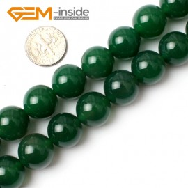 """G0147 14mm Round Gemstone Dark Green Agate DIY Jewelry Crafts Making Loose Bead 15"""" Natural Stone Beads for Jewelry Making Wholesale"""