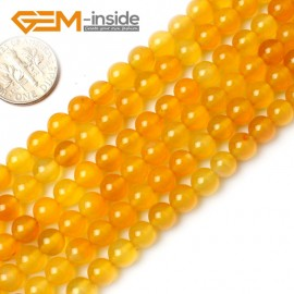 "G0151 6mm Round Gemstone Yellow Agate Beads Jewelry Making Loose Beads15"" Free Shipping Natural Stone Beads for Jewelry Making Wholesale`"