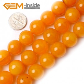 "G0155 14mm Round Gemstone Yellow Agate Beads Jewelry Making Loose Beads15"" Free Shipping Natural Stone Beads for Jewelry Making Wholesale`"