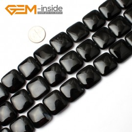 "G0289 20mm Square Black Agate Beads Strands 15"" Jewelery Making Gemstone Onyx Loose Beads Natural Stone Beads for Jewelry Making Wholesale"