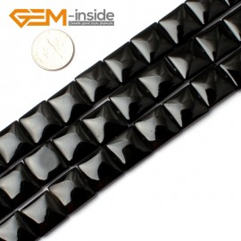 "G0290 14mm Square Black Agate Beads Strands 15"" Jewelery Making Gemstone Onyx Loose Beads Natural Stone Beads for Jewelry Making Wholesale"