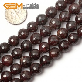 "G0399 10mm Free Shipping Round Faceted Garnet Beads Jewelry Making Loose Beads 15"" 4-12mm Natural Stone Beads for Jewelry Making Wholesale"