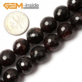 "G0400 12mm Free Shipping Round Faceted Garnet Beads Jewelry Making Loose Beads 15"" 4-12mm Natural Stone Beads for Jewelry Making Wholesale"