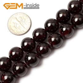 "G0408 10mm Round Natural Garnet Beads DIY Jewelry Making Gemstone Loose Beads 15"" 4-15mm Natural Stone Beads for Jewelry Making Wholesale"