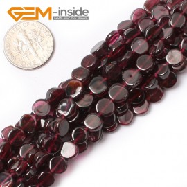 "G0423 6mm coin Multi Freeform Garnet Gemstone Loose Beads 15"" Jewelery Making Beads Natural Stone Beads for Jewelry Making Wholesale"