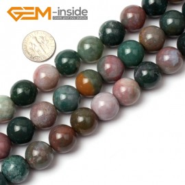 """G0533 14mm Natural Round Indian Agate Beads Jewelry Making Gemstone Loose Beads 15"""" GBeads Natural Stone Beads for Jewelry Making Wholesale"""