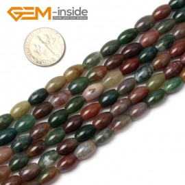 """G0539 6X9mm Olivary Gemstone Indian Agate Loose Beads Gemstone Strands 15"""" Jewelery Making Natural Stone Beads for Jewelry Making Wholesale"""