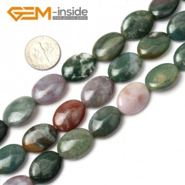 "G0546 13x18mm Oval Natural Indian Agate Beads Strand 15"" Jewelry Making Loose Beads Natural Stone Beads for Jewelry Making Wholesale"