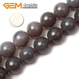 "G0585 20mm Natural Round Gray Agate Beads 15"" 6-20mm Jewely Making Gemstone Loose Beads Natural Stone Beads for Jewelry Making Wholesale"