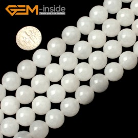"G0596 12mm Round Natural White Agate Loose Beads Strands 15"" Jewelry Making Beads 10-14mm Natural Stone Beads for Jewelry Making Wholesale"